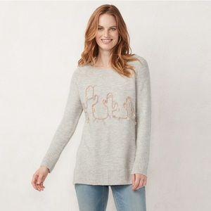 NWT LC Lauren Conrad Cactus raised graphic sweater